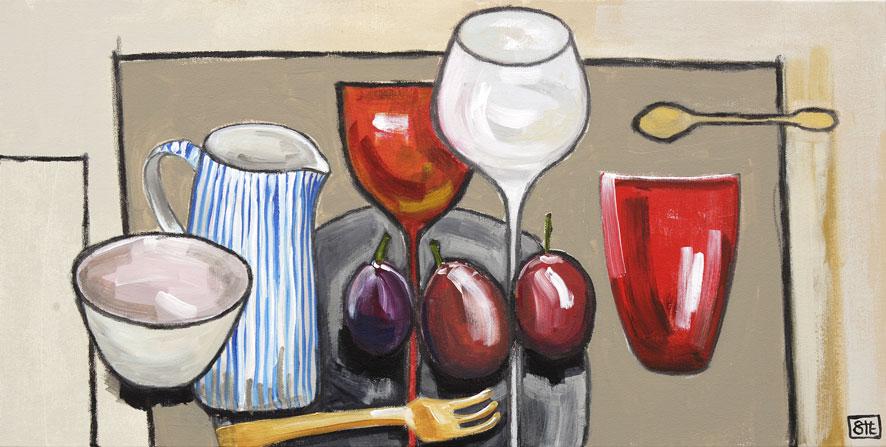 Sara huxley edwards paintings for sale for Cuadros modernos para comedor diario